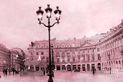 Fantasy Paris Photograph - Paris Place Vendome Dreamy Paris Street Lamps Architecture - Place Vendome by Kathy Fornal