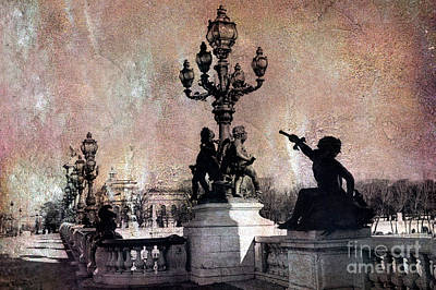 Paris - Pont Alexandre Bridge IIi Over Seine River Art Print