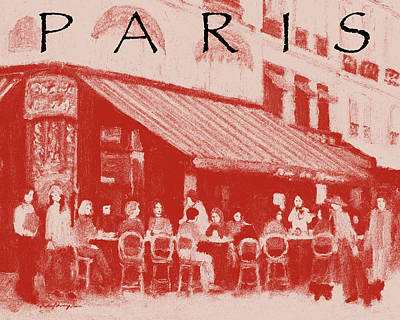 Painting - Paris Poster 2 by J Reifsnyder