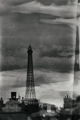 Photograph - Paris Radio Tower - Wet Plate Process by Nicholas Evans