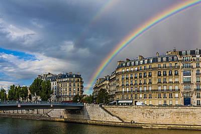 Ile St Louis Photograph - Paris Rainbow by Carl Larson