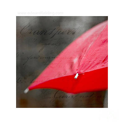Savings Photograph - Paris Rains Original Signed Mini by Edward Fielding