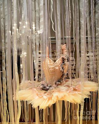 Paris Repetto Ballerina Tutu Dress Shop Window Display - Repetto Ballerina Ballet Tutu Art  Art Print by Kathy Fornal