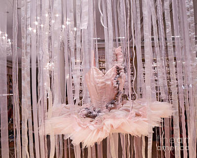 Paris Repetto Pink Ballerina Tutu Dress Shop Window Display - Repetto Ballerina Pink Ballet Tutu Print by Kathy Fornal