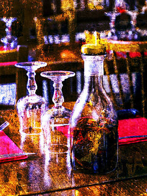 Photograph - Paris Restaurant Table by Bob Coates