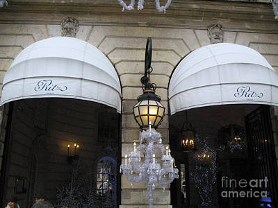 Paris By Kathy Fornal Photograph - Paris Ritz Hotel Canopies Art Deco And Art Nouveau by Kathy Fornal