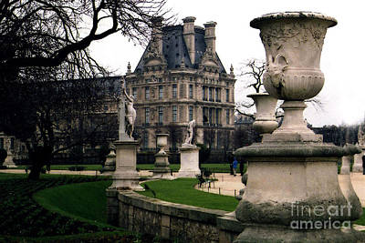 Louvre Photograph - Paris Louvre Tuileries Park - Jardin Des Tuileries Garden - Paris Landmark Garden Sculpture Park by Kathy Fornal