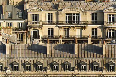 Photograph - Paris Roof Tops - A Close Up - 2  by Hany J