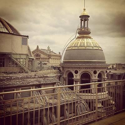 Golden Wall Art - Photograph - Paris Rooftops by Heidi Hermes