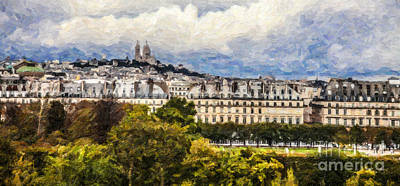 Digital Art - Paris Rooftops by Liz Leyden