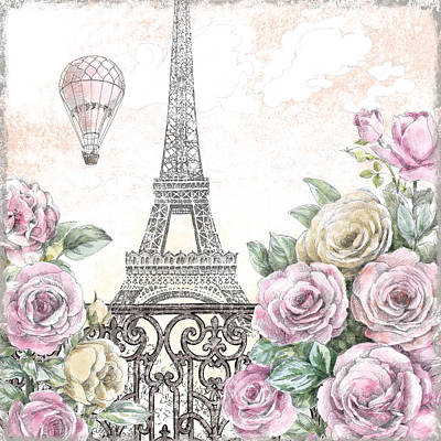 Paris Roses Vi Art Print by Beth Grove