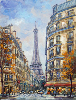 Painting - Paris Rue De Monttessuy by Irek Szelag