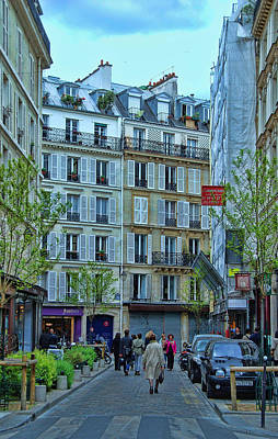 Photograph - Paris Side Street 2 by Allen Beatty