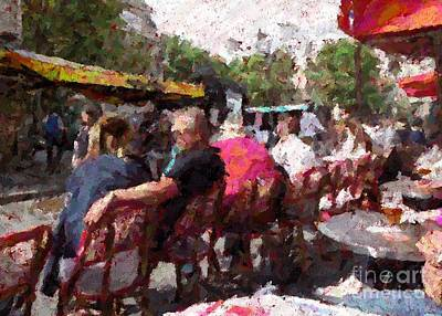 Photograph - Paris Sidewalk Bistro by Barbie Corbett-Newmin