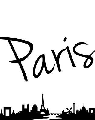 Paris Painting - Paris Skyline by Anna Quach