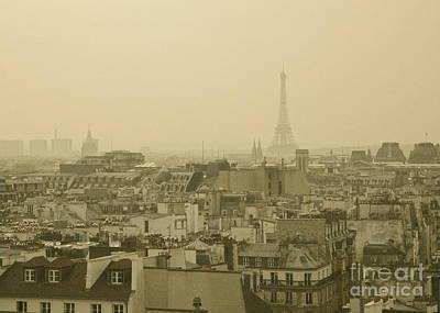 Photograph - Paris Skyline At Sundown by Louise Fahy