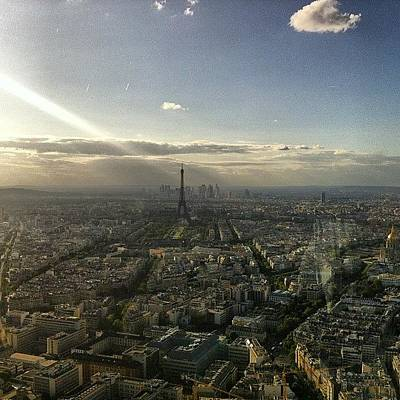 Paris Skyline Photograph - #paris #skyline #eiffeltower #sky by C J
