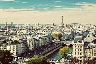 Paris Skyline Photos - Paris skyline France. Eiffel Tower by Michal Bednarek