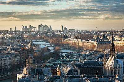 Paris Skyline View From Notre-dame Art Print by © Philippe Lejeanvre