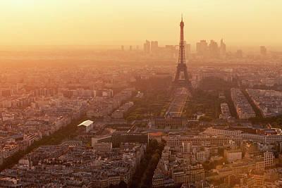 Paris Skyline With Eiffel Tower In Art Print by B&m Noskowski