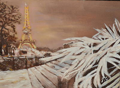 Painting - Paris Sous La Neige by Julie Todd-Cundiff