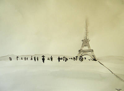 Painting - Paris Sous La Neige by Marwan George Khoury