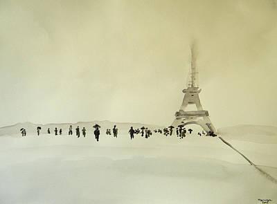 Paris Sous La Neige Original by Marwan George Khoury