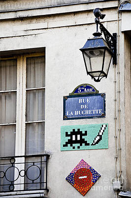 Space Invaders Photograph - Paris Street Art - Space Invader by Ivy Ho