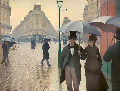 Wet On Wet Painting - Paris Street In Rainy Weather by Mountain Dreams