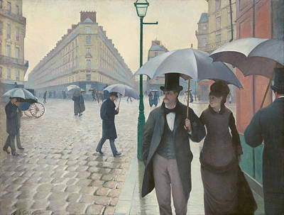 Gustave Caillebotte Painting - Paris Street In Rainy Weather by Gustave Caillebotte