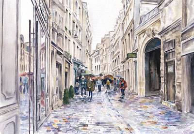 Painting - Paris Street In The Rain by Paula Nathan