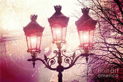 Paris Street Lanterns Lamps Street Architecture - Paris Ornate Lanterns Lamps Art Print by Kathy Fornal