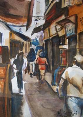Paris Street Scene Art Print by Melinda Saminski