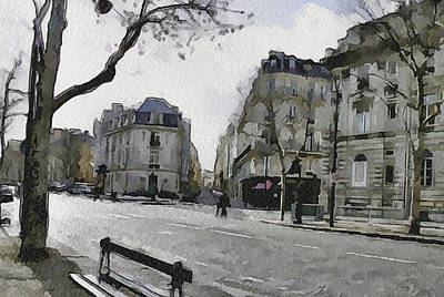 Paris Streets 1 Art Print by Yury Malkov