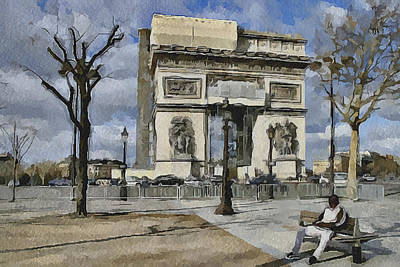 Paris Streets 2 Art Print by Yury Malkov