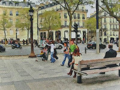 Paris Streets 4 Art Print