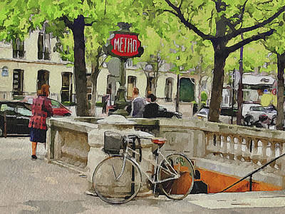 Paris Streets 5 Art Print