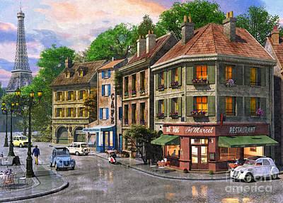 Tower Digital Art - Paris Streets by Dominic Davison