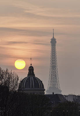 Paris Sunset I Art Print