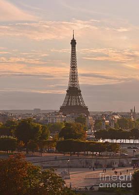 Europe Photograph - Paris Sunset by Jim Chamberlain