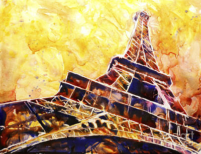 Painting - Paris Sunset by Ryan Fox
