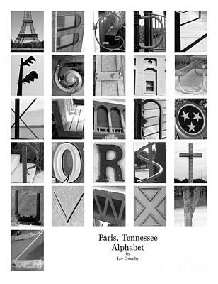 Photograph - Paris Tennessee Alphabet 2 by Lee Owenby