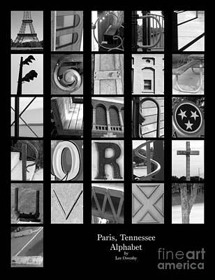 Photograph - Paris Tennessee Alphabet by Lee Owenby