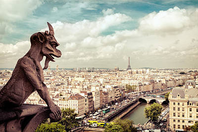 Paris - The City From Above Art Print