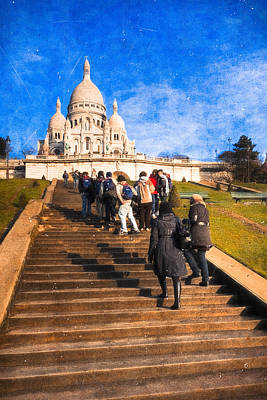 Artography Photograph - Paris - The Long Climb To Sacre Coeur by Mark E Tisdale