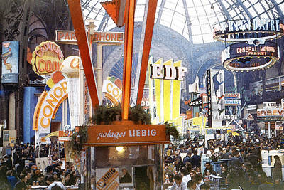 Photograph - Paris Trade Show 1954 by Chuck Staley
