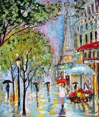 Eiffel Tower Painting - Paris Twilight by Karen Tarlton