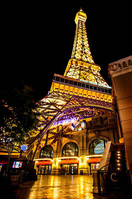 Las Vegas Photograph - Paris Under The Tower by Az Jackson