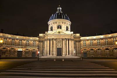 Photograph - Paris University At Night by Radoslav Nedelchev