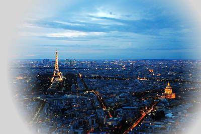 Photograph - Paris View From Tour Montparnasse by Jacqueline M Lewis